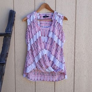 Sleeveless Crisscross Print Camisole Blouse 6